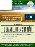 Workshop O Evangelho Em Sua Mao