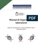 Manual de Seguridad Nuevos Materiales Nano y Supramolecular.