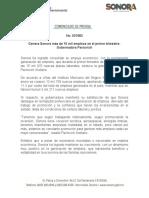 13-03-2019 Genera Sonora más de 15 mil empleos en el primer bimestre