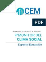 MONITOR DEL CLIMA SOCIAL CEM- MARZO 2019