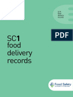 food delivery records