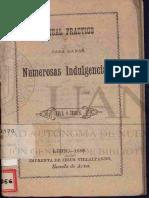 Indulgencias año1888