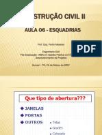 Aula - Esquadrias