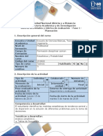 Guía de Actividades y Rúbrica de Evaluación - Fase 1 - Planeación