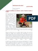 Adiestramiento Policial de Perros de Rastreo