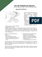 agenda política Red de Mujeres de Plataforma Agraria