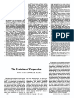 Axelrod y Hamilton, 1981. The Evolution of Cooperation