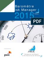 Le Baromètre Du Risk Manager 2015 - 4e Édition