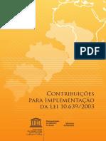 Contribuições para implementação da lei 10.639/2003