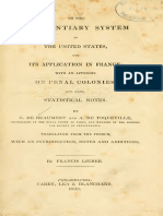(Inglés) Alexis De Tocqueville - On the Penitentiary System in the United States and Its Application to France.pdf