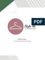 Style Mi UI UX Report