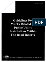 Guidelines for Road Related to Public Utitity Installation Within the Road Reserve REAM 2002