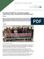 7. Jornalistas Da EBC São Orientados a Abafar Repercussão Sobre Assassinato de Marielle Franco