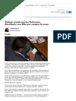 8. Diálogo Vazado Mostra Bolsonaro Discutindo Com Filho Por Compra de Arma