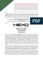 Hexo Preliminary Prospectus Supplement en Jan 21 2019