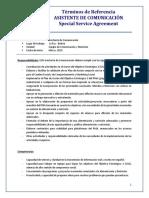 Terminos de Referencia Asistente de Comunicacion (So2)