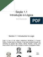 2016 - Section 1.1 - Introdução à Lógica.ppt