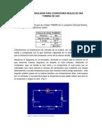 Practica de Simulador Para Condiciones Reales de Una Turbina de Gas