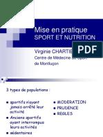 Mise en Pratique Sport Et Nutrition