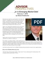 The Danger in Emerging Market Debt