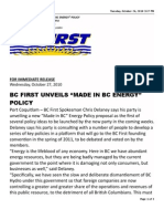 BC First news release sent by Fight HST