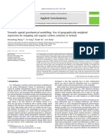 Towards spatial geochemical modelling