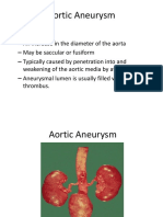 Aortic Aneurysm & Dissection Spring 2018