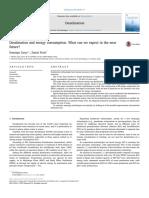 Métodos de desalinización y su consumo enérgetico