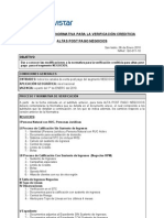 COM-011-10 Comunicado Normativa Verificación  Crediticia Neg