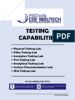 Testing Capabilities - COE Indutech