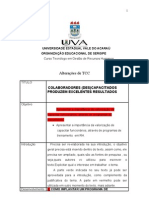 UNIVERSIDADE ESTADUAL VALE DO ACARAÚ folha de alterações tcc