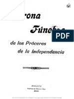 Corona Funebre de Los Proceres de La Independencia