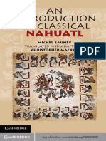 Michel Launey, Christopher Mackay - An Introduction to Classical Nahuatl (2011, Cambridge University Press)