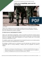 [2019 03 12] La Guardia Nacional Solo Es Un Maquillaje, Pues Son Los Mismos Militares (Periodico Central)