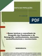 Apresentação Teorias Demográficas e Dilemas