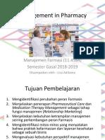 1.Management in Pharmacy (Minggu I)