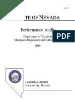 Nevada Marijuana Audit