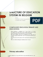 Structure of Education System in Belgium