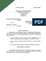 Judicial-Affidavit-For-Violation of Sect 11 Art II of RA 9165