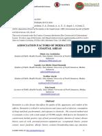 ASSOCIATION FACTORS OF DERMATITIS IN THE COASTAL AREAS