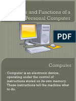 Parts and Functions of a Personal Computer