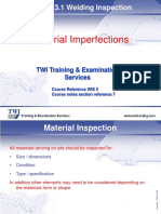 7.0 Material Inspection