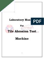 Tile Abrasion Lab Manual