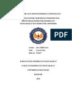 Ringkasan Peraturan Konsil Kedokteran Indonesia Dan Kode Etik Profesi Kesehatan
