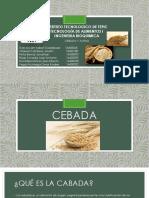 Cebada y Avena