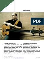Interview Ralf Gauck (in german)