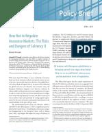How Not to Regulate Insurance Markets