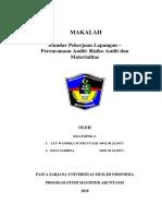 Makalah Standar Pekerjaan Lapangan - Perencanaan Audit; Risiko Audit Dan Materialitas