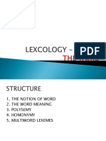Lecture 2 for lexicology