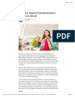 Top Five Digital Transformation Trends in Retail